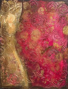 Waves of Circles on Fuchsia by Kristen Abrahamson