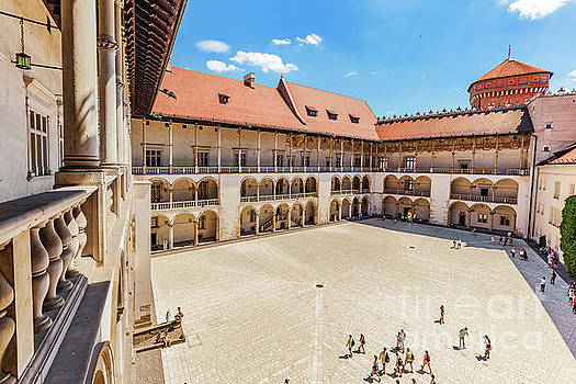 Michal Bednarek - Wawel Castle, Cracow, Poland. The tiered arcades of renaissance courtyard.