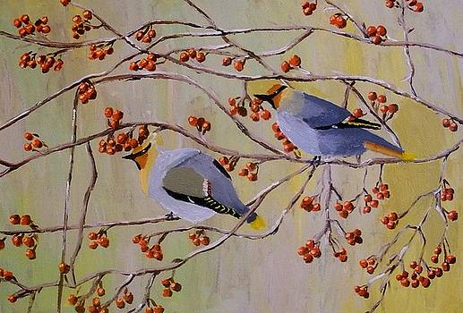 Waxwings by Mats Eriksson