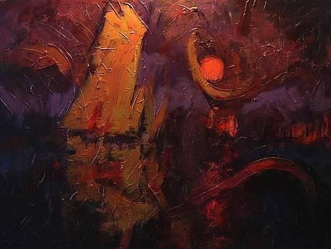 Wayfarer by moonlight by R W Goetting