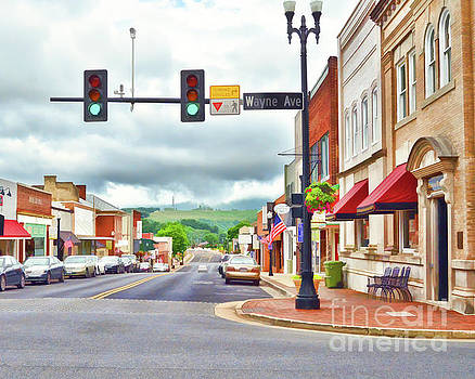 Wayne Avenue - Downtown Waynesboro Virginia - Art of the Small Town by Kerri Farley