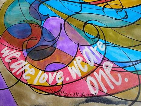We are love. by Vonda Drees