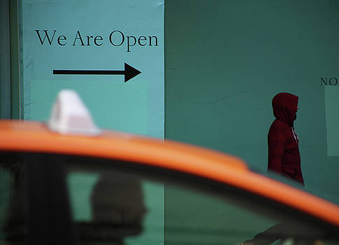 We are open by Empty Wall