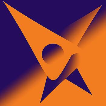 We dance into the orange purple valley by Sir Josef - Social Critic -  Maha Art
