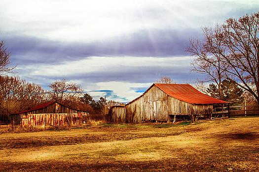 Weather Coming In - Farm Landscape by Barry Jones