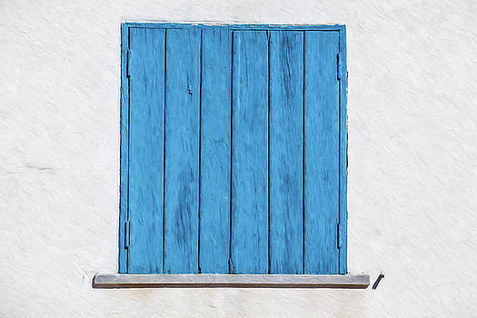 David Letts - Weathered Blue Shutter