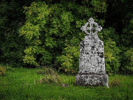 Weathered Cross in Killone Abbey by James Truett