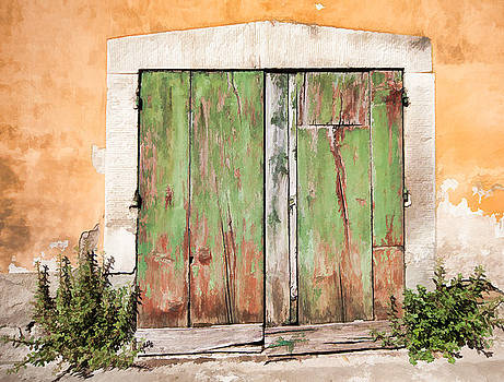 David Letts - Weathered Green Door of Tuscany