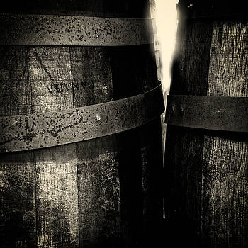 Weathered Old Apple Barrels by Bob Orsillo