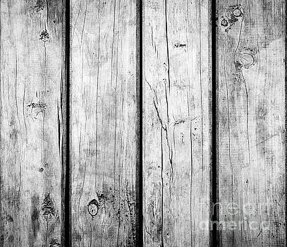 Tim Hester - Weathered Wooden Background Black and White
