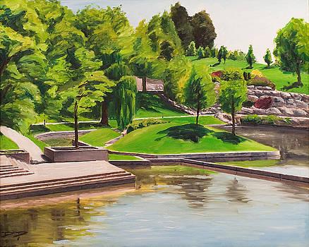 Weber University Reflecting Pond by Dan Price