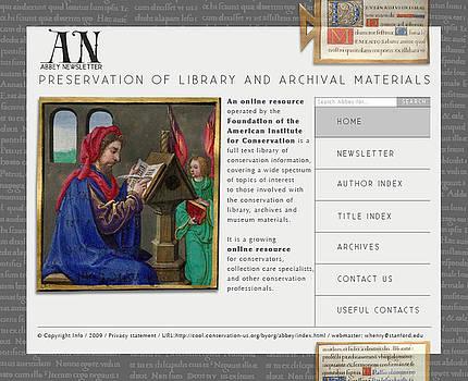 Website Interface - Library by Ausra Pretorius