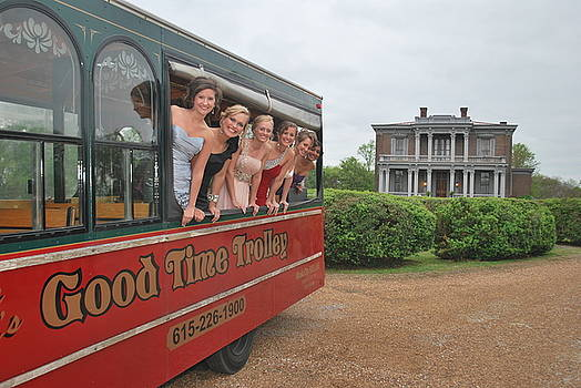 Wedding party on the Trolley  by Tom Hufford