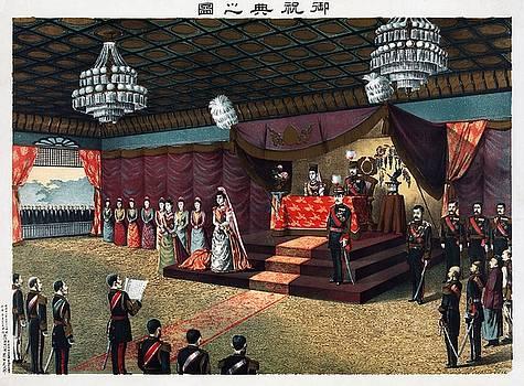 Wedding reception of Crown Prince Yoshihito and Princess Kujo Sadako, 1900 by Vintage Printery