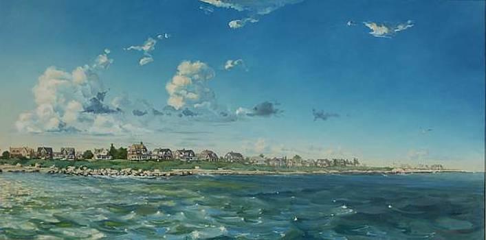 Weekapaug From the Water by David Johnson