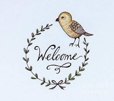 Elizabeth Robinette Tyndall - Welcome Bird Laurel Wreath