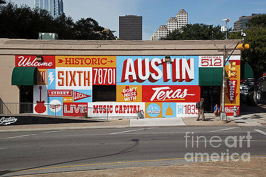 Herronstock Prints - Welcome to Historic Sixth Street is a famous mural located at 6t