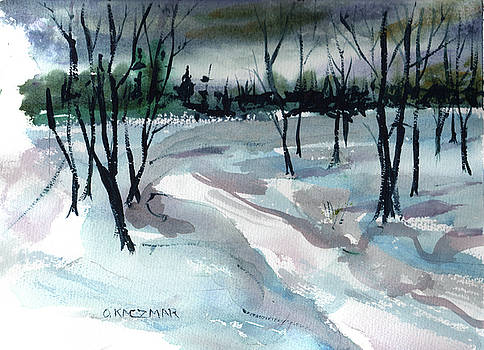 Weldon's Snow Trees by Olga Kaczmar