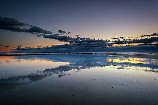 Wells Beach Reflections by Rick Berk