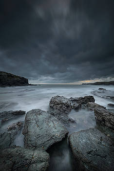 Welsh Seascape at Dusk. by Andy Astbury