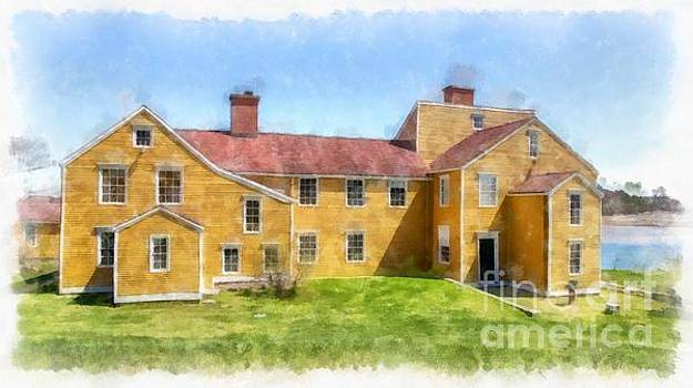 Wentworth Coolidge Mansion Watercolor by Edward Fielding