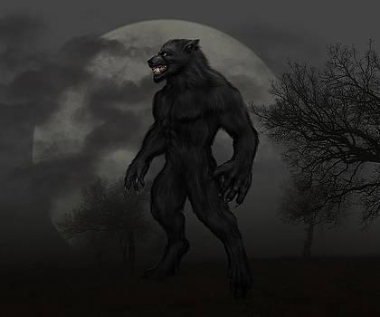Werewolf at Full Moon by Solomon Barroa
