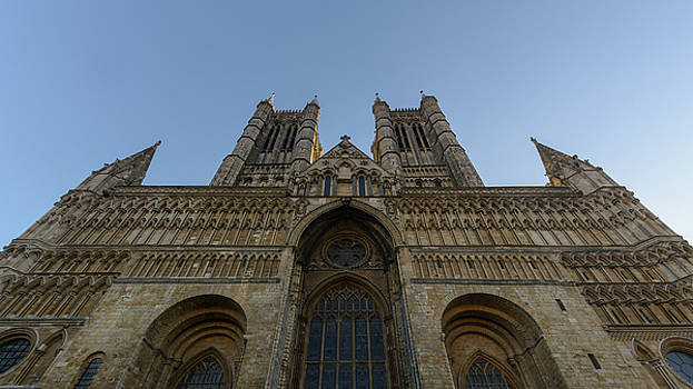 Jacek Wojnarowski - West Facade of Lincoln Cathedral low angle