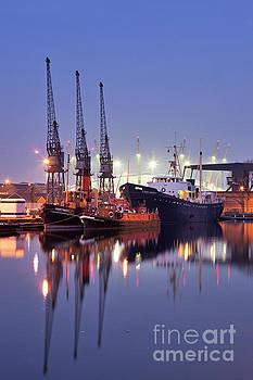 West India Dock, London by David Bleeker