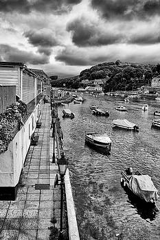 West Looe in Black and White by Jay Lethbridge