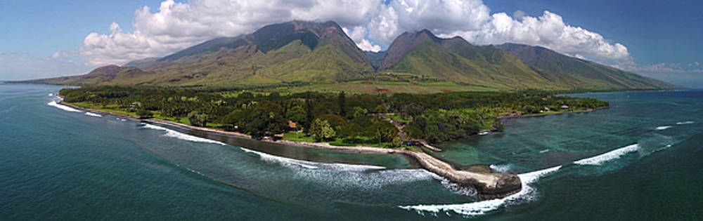 West Maui Mountains Pano by James Roemmling