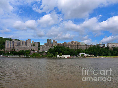 West Point from the Hudson River New York by Louise Heusinkveld