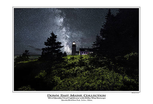 West Quoddy Head Lighthouse with Milky Way Starscape 2 by Marty Saccone