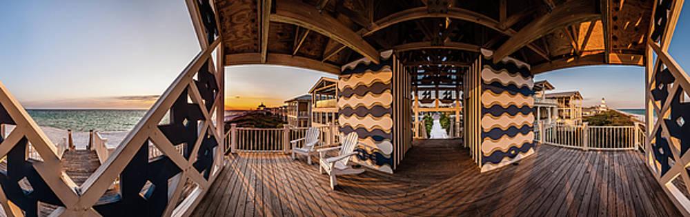 West Ruskin Pavilion Seaside Sunset by Kurt Lischka