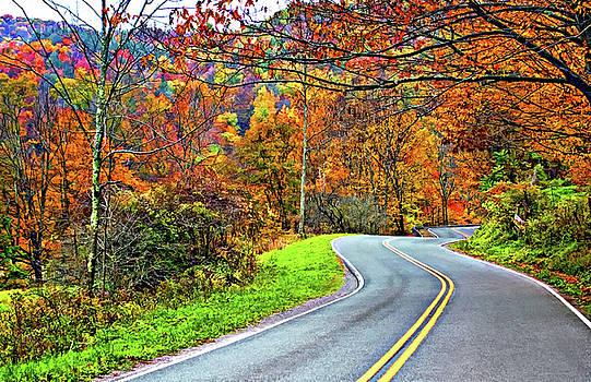 West Virginia Curves Painted 2 by Steve Harrington