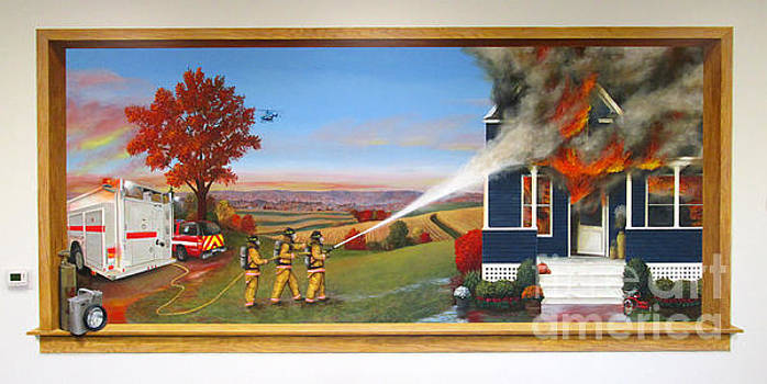 Westby-Christiana Fire Mural by Sarah Pederson