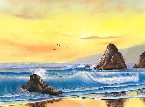 Westcoast Sunset by Suresh Chakravarthy