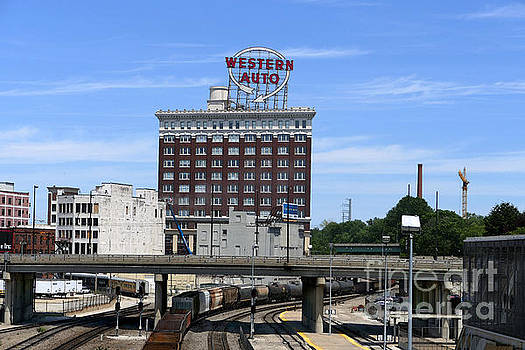 Western Auto Building and Kansas City Train Yard by Catherine Sherman
