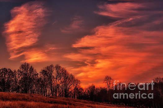 Western Sky Sunrise Glow by Thomas R Fletcher