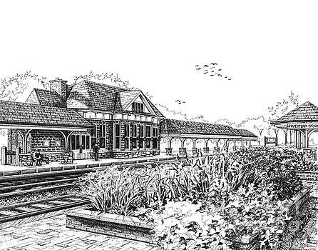 Western Springs Train Station by Mary Palmer