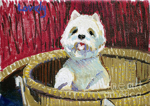 Candace Lovely - Westie in Basket