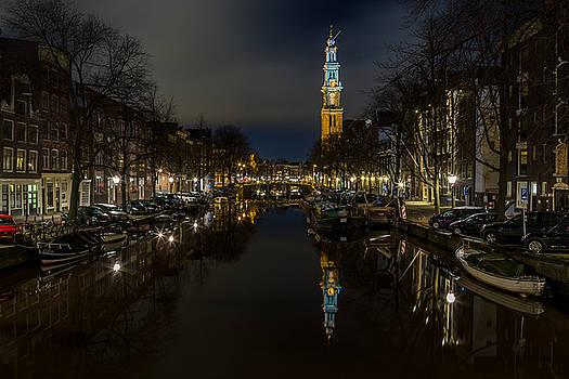 John Daly - Westkerk Reflecting on the Prinsengracht