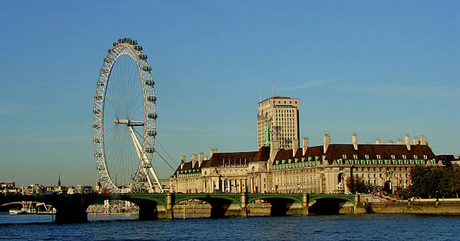 Westminster Bridge and London Eye by Misentropy