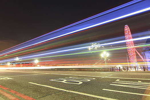 Westminster Light Trails by Milo Hale