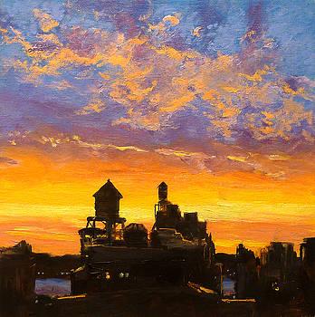 Westside Sunset No. 1 by Peter Salwen