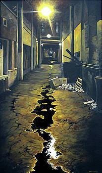 Wet Alley by Elaine Booth-Kallweit