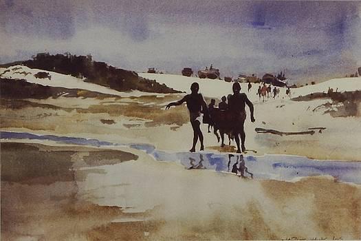 Wet Beach by Charles Hawes