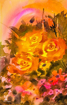Roses in a Rainbow by Vickie Myers
