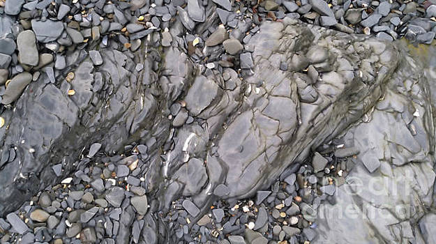 Wet Limestone with Pebbles by Mike O'Hagan
