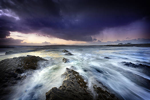 Dominick Moloney - Rain Storm wet rocks county Clare
