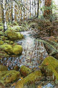 Wet Spot in Woods by Andrea Benson